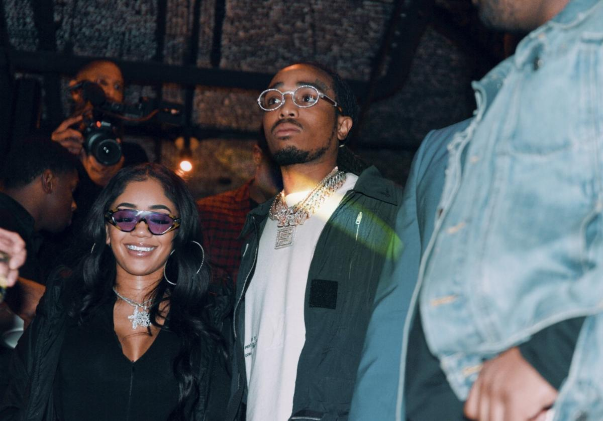 Saweetie and Quavo attend the Klutch 2019 All Star Weekend Dinner Presented by Remy Martin and hosted by Klutch Sports Group at 5Church on February 16, 2019 in Charlotte, North Carolina