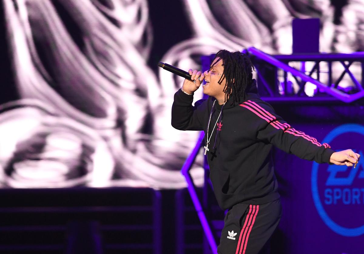 Trippie Redd performs onstage during Bud Light Super Bowl Music Fest / EA SPORTS BOWL at State Farm Arena on January 31, 2019 in Atlanta, Georgia