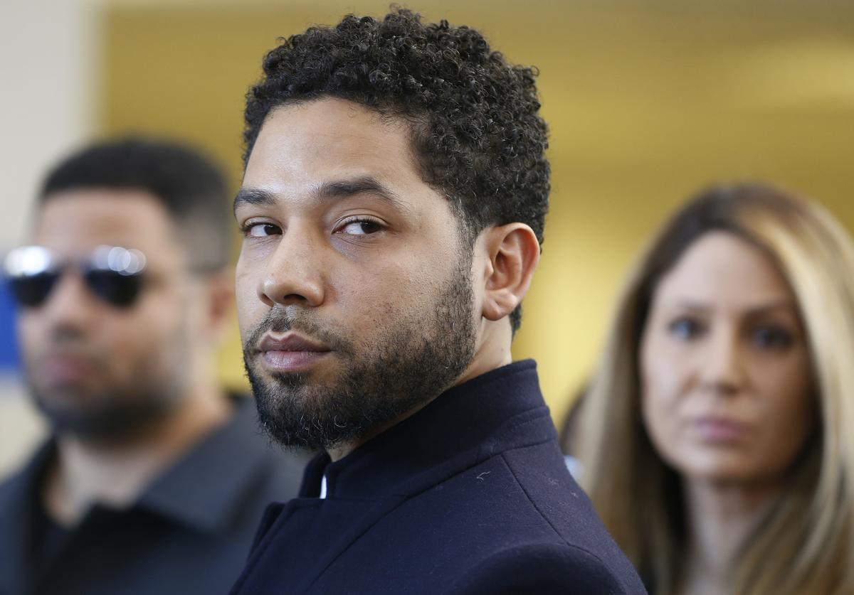 Jussie Smollett after his court appearance at Leighton Courthouse on March 26, 2019 in Chicago, Illinois