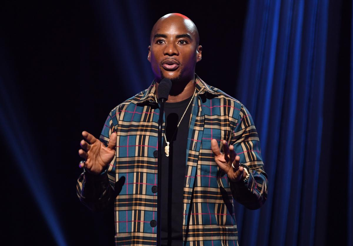 Charlamagne tha God onstage at the 2019 iHeartRadio Podcast Awards Presented by Capital One at the iHeartRadio Theater LA on January 18, 2019 in Burbank, California.