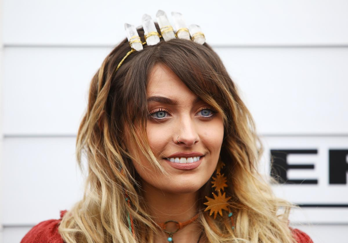 Paris Jackson poses at the Myer Marquee on Emirates Melbourne Cup Day at Flemington Racecourse on November 7, 2017 in Melbourne, Australia