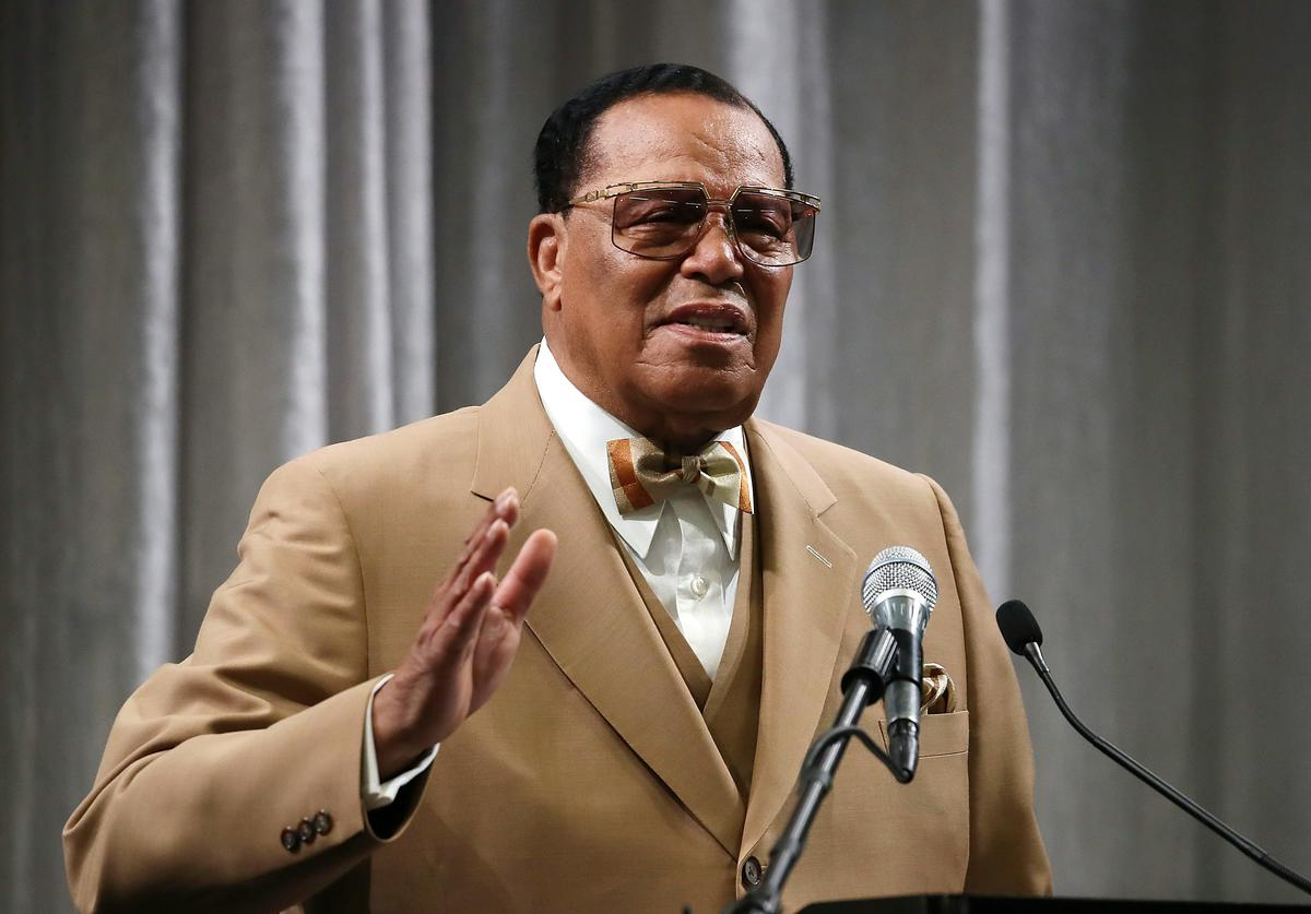 Nation of Islam Minister Louis Farrakhan delivers a speech and talks about U.S. President Donald Trump, at the Watergate Hotel, on November 16, 2017 in Washington, DC
