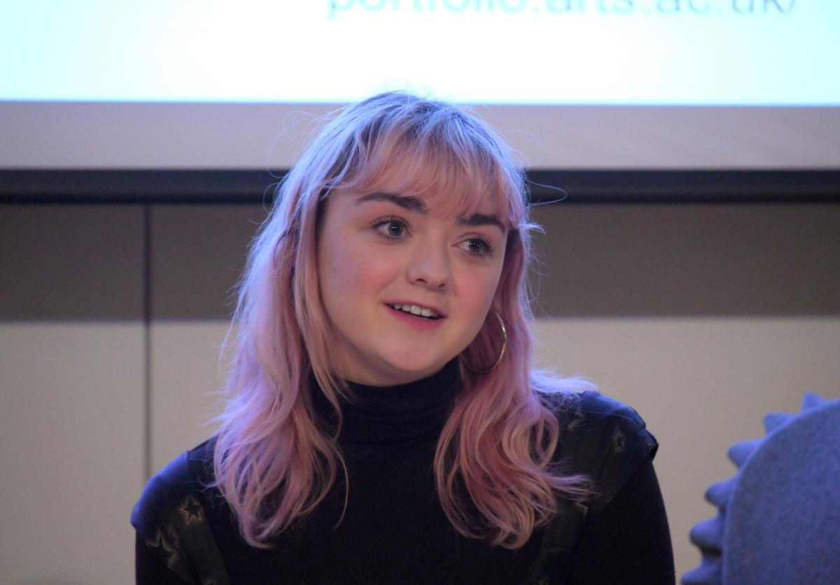 Maisie Williams attends a UAL Evening With Maisie Williams at Central St Martins on March 14, 2019 in London, England