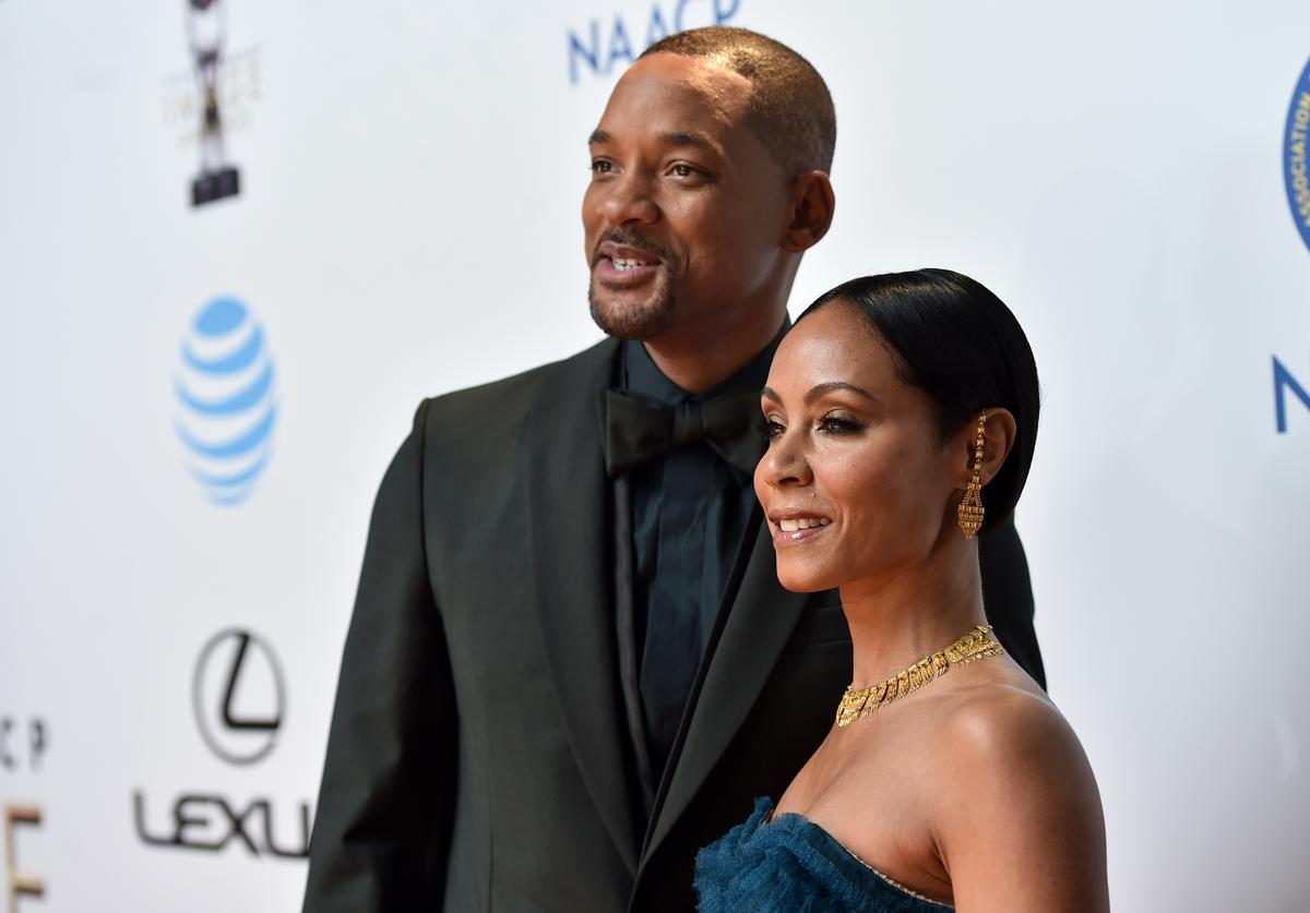 Actor Will Smith (L) and actress Jada Pinkett Smith attend the 47th NAACP Image Awards presented by TV One at Pasadena Civic Auditorium on February 5, 2016 in Pasadena, California