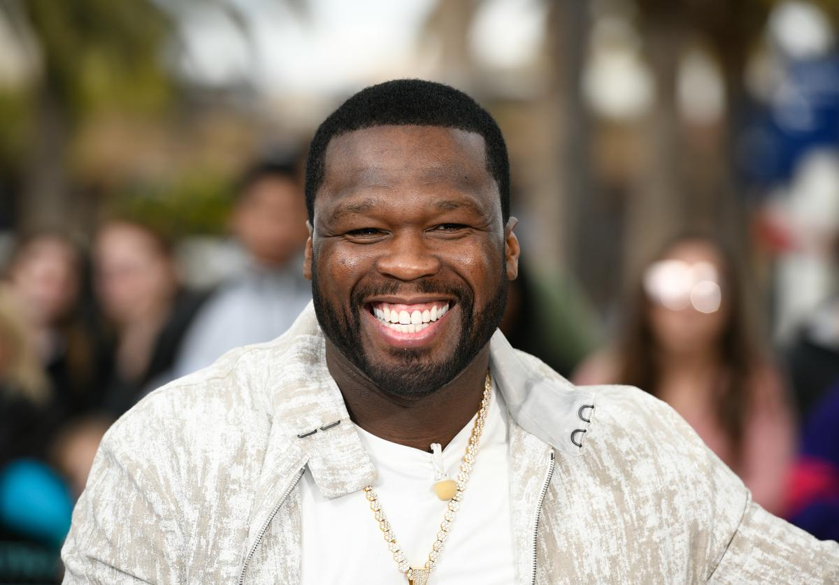 50 Cent visits 'Extra' at Universal Studios Hollywood on February 20, 2019 in Universal City, California