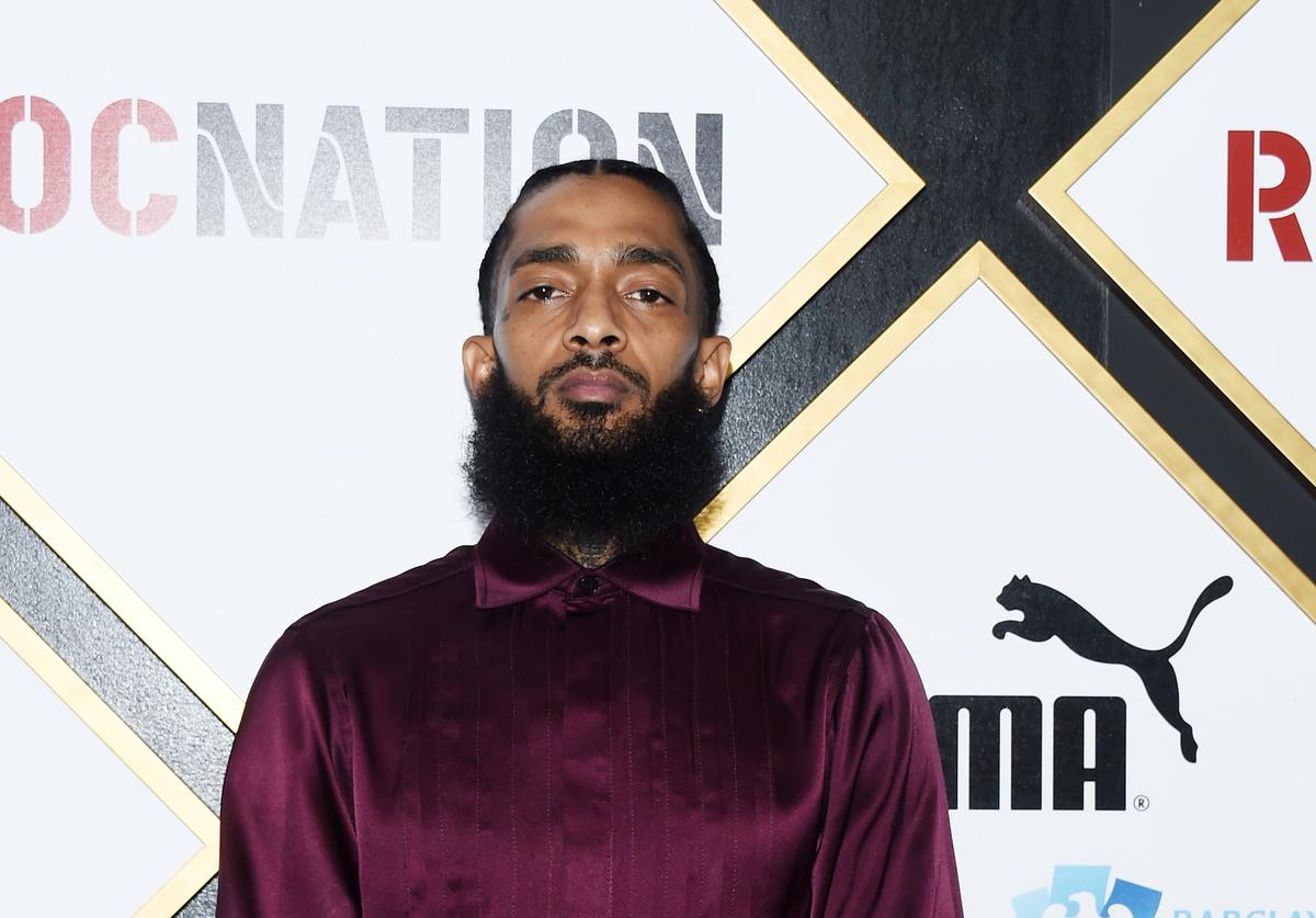 Nipsey Hussle arrives at the 2019 Roc Nation THE BRUNCH on February 09, 2019 in Los Angeles, California.