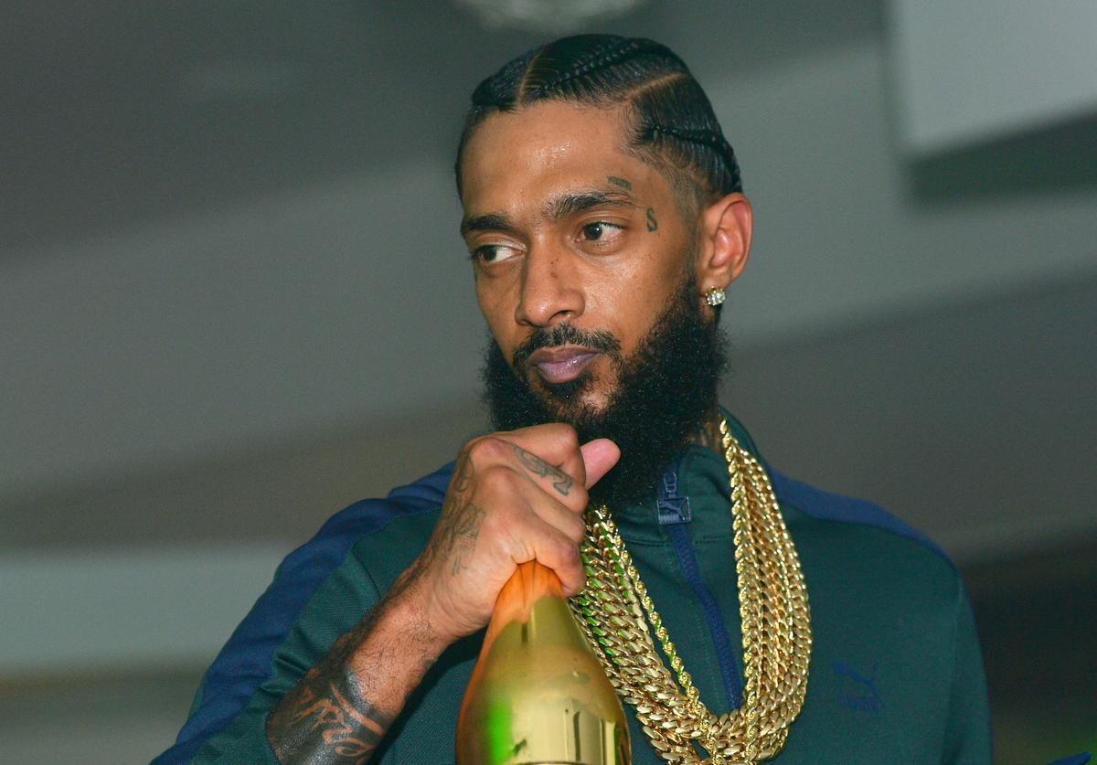Nipsey Hussle attends a a Party at Meskerem on August 13, 2018 in Atlanta, Georgia