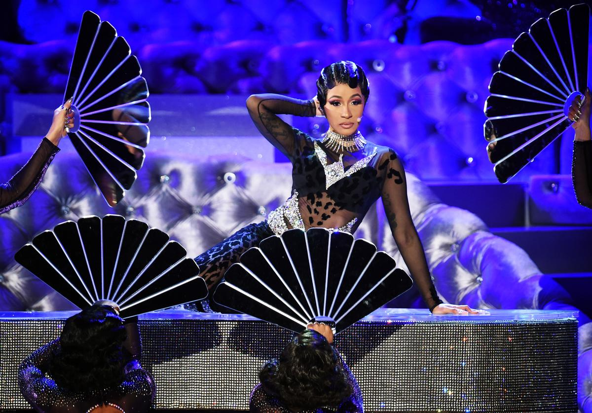 Cardi B performs onstage during the 61st Annual GRAMMY Awards at Staples Center on February 10, 2019 in Los Angeles, California.