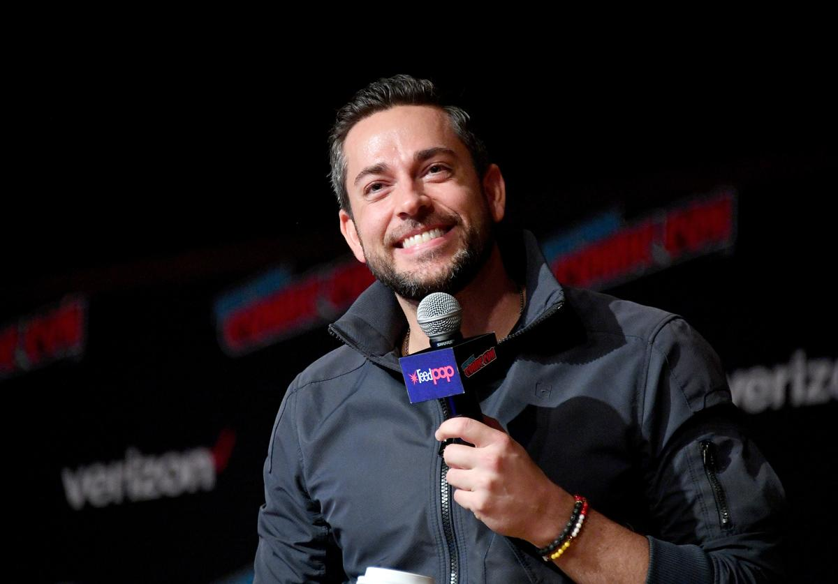 Zachary Levi speaks onstage during An Hour with Zachary Levi at New York Comic Con at Jacobs Javits Center on October 7, 2018 in New York City.
