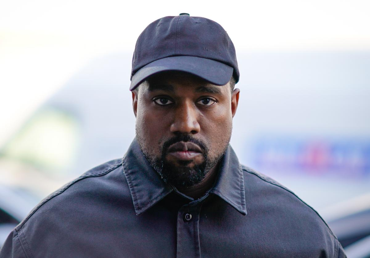 Kanye West is seen, outside 1017 ALYX 9SM show, during Paris Fashion Week Menswear Spring/Summer 2019, on June 24, 2018 in Paris, France