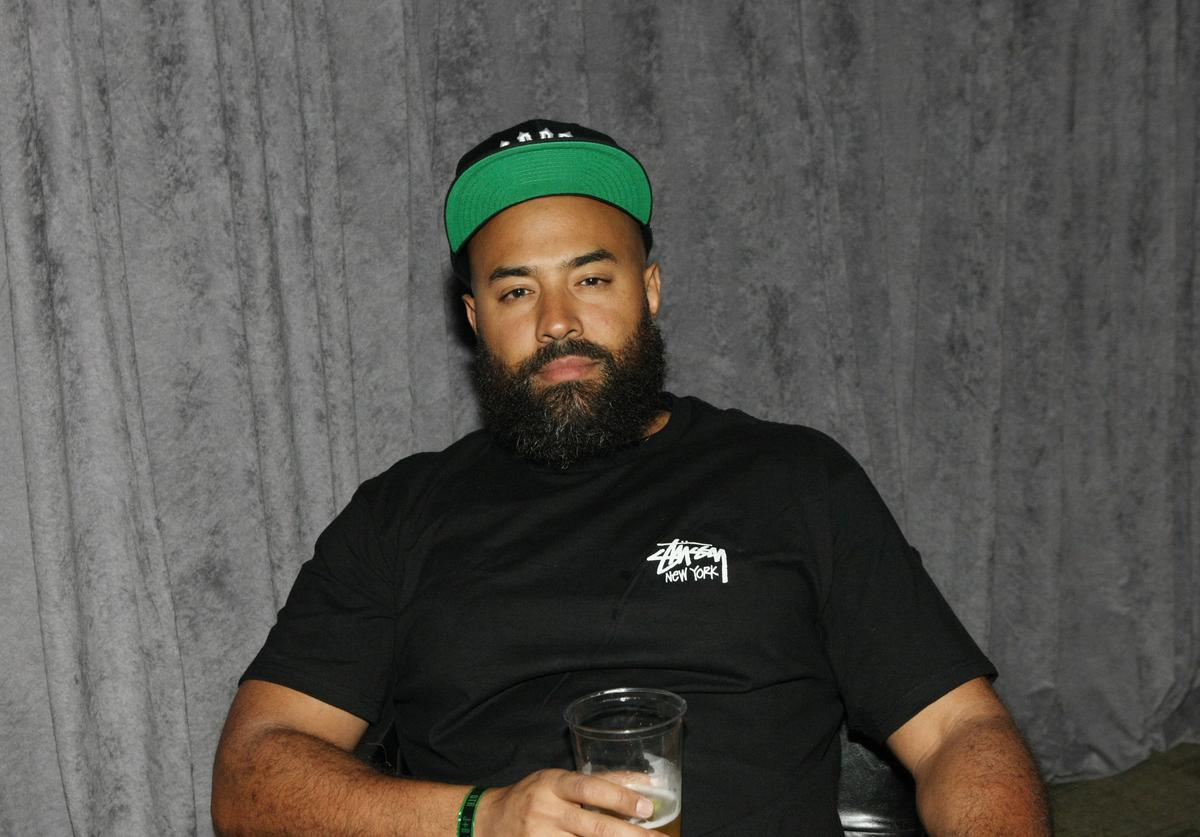 TV personality Ebro Darden attends the D'USSE VIP Riser + Lounge At On The Run Tour - MetLife Stadium on July 11, 2014 in East Rutherford City.
