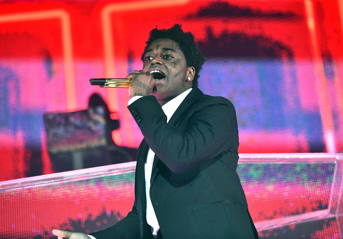 Kodak Black performs onstage during the 'Dying to Live' tour at Hollywood Palladium on March 20, 2019 in Los Angeles, California