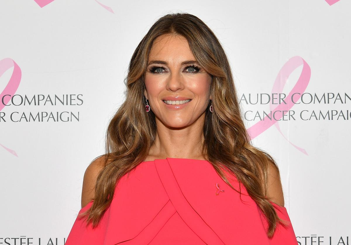 Elizabeth Hurley attends the Estée Lauder 2018 Breast Cancer Campaign at Bar SixtyFive on October 01, 2018 in New York City
