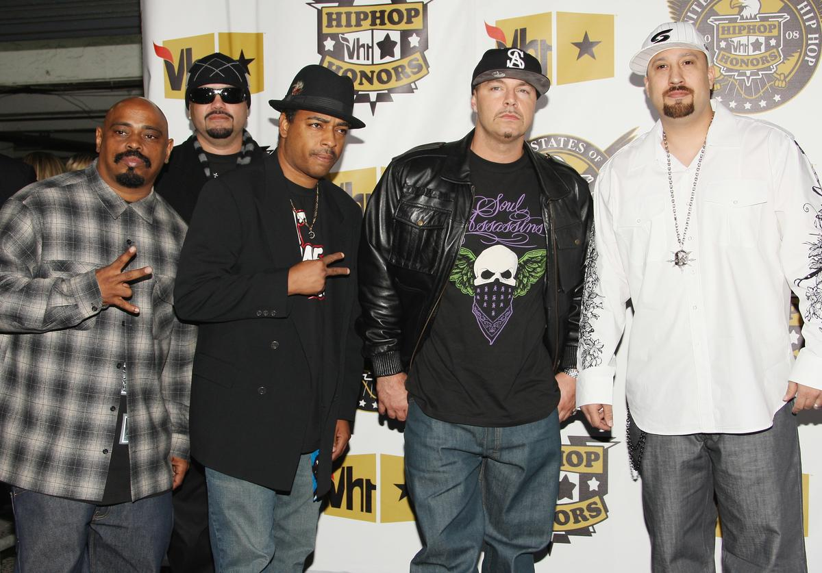 Sen Dog, Eric Bobo, DJ Muggs and B Real of Cypress Hill attend the 2008 VH1 Hip Hop Honors at the Hammerstein Ballroom on October 2, 2008 in New York City.