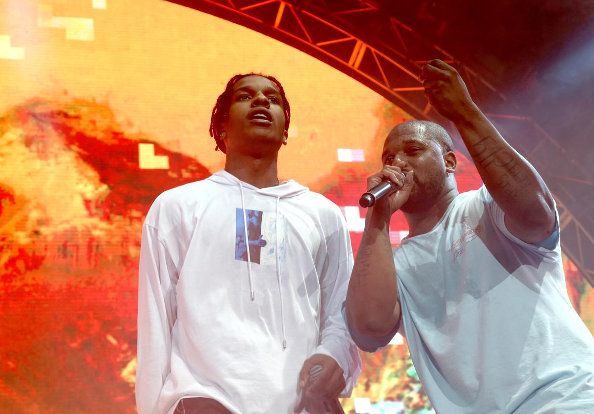 A$AP Rocky (L) and ScHoolboy Q perform onstage at night three of the STAPLES Center Concert, sponsored by Sprite, during the 2017 BET Experience at Staples Center on June 24, 2017 in Los Angeles, California