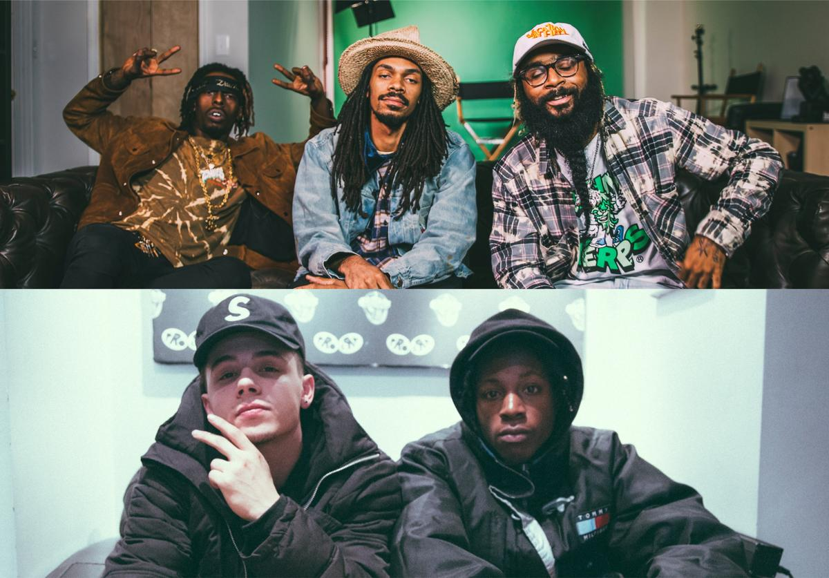 Flatbush Zombies and Nyck Caution and Joey Bada$$ of Pro Era