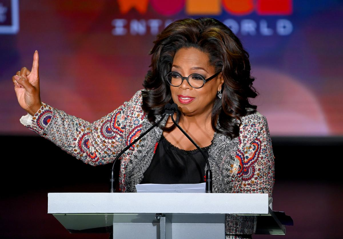 Oprah Winfrey speaks onstage the 10th Anniversary Women In The World Summit at David H. Koch Theater at Lincoln Center on April 10, 2019 in New York City.