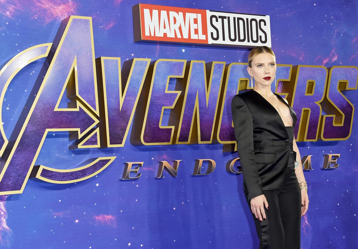 Scarlett Johansson attends the 'Avengers Endgame' UK Fan Event at the Picturehouse Central on April 10, 2019 in London, England