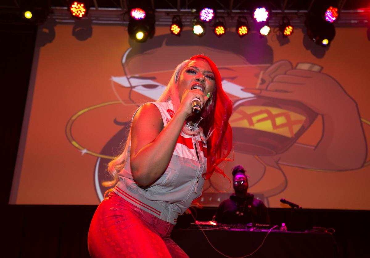 Megan Thee Stallion performs live onstage 2019 WKYS Women's Day Celebration at The Fillmore Silver Spring on March 07, 2019 in Silver Spring, Maryland