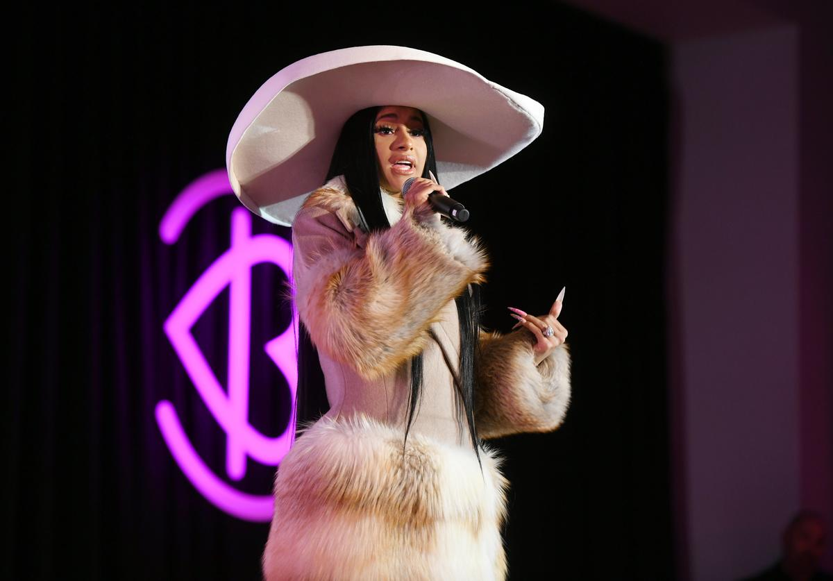 Cardi B speaks onstage at Beautycon Festival New York 2019 at Jacob Javits Center on April 07, 2019 in New York City.