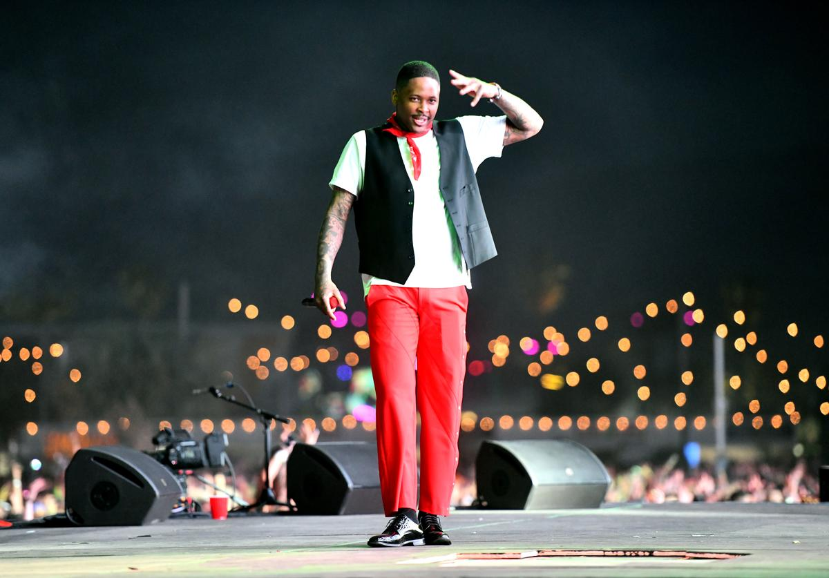 YG performs onstage during Weekend 1, Day 3 of the Coachella Valley Music and Arts Festival on April 14, 2019 in Indio, California