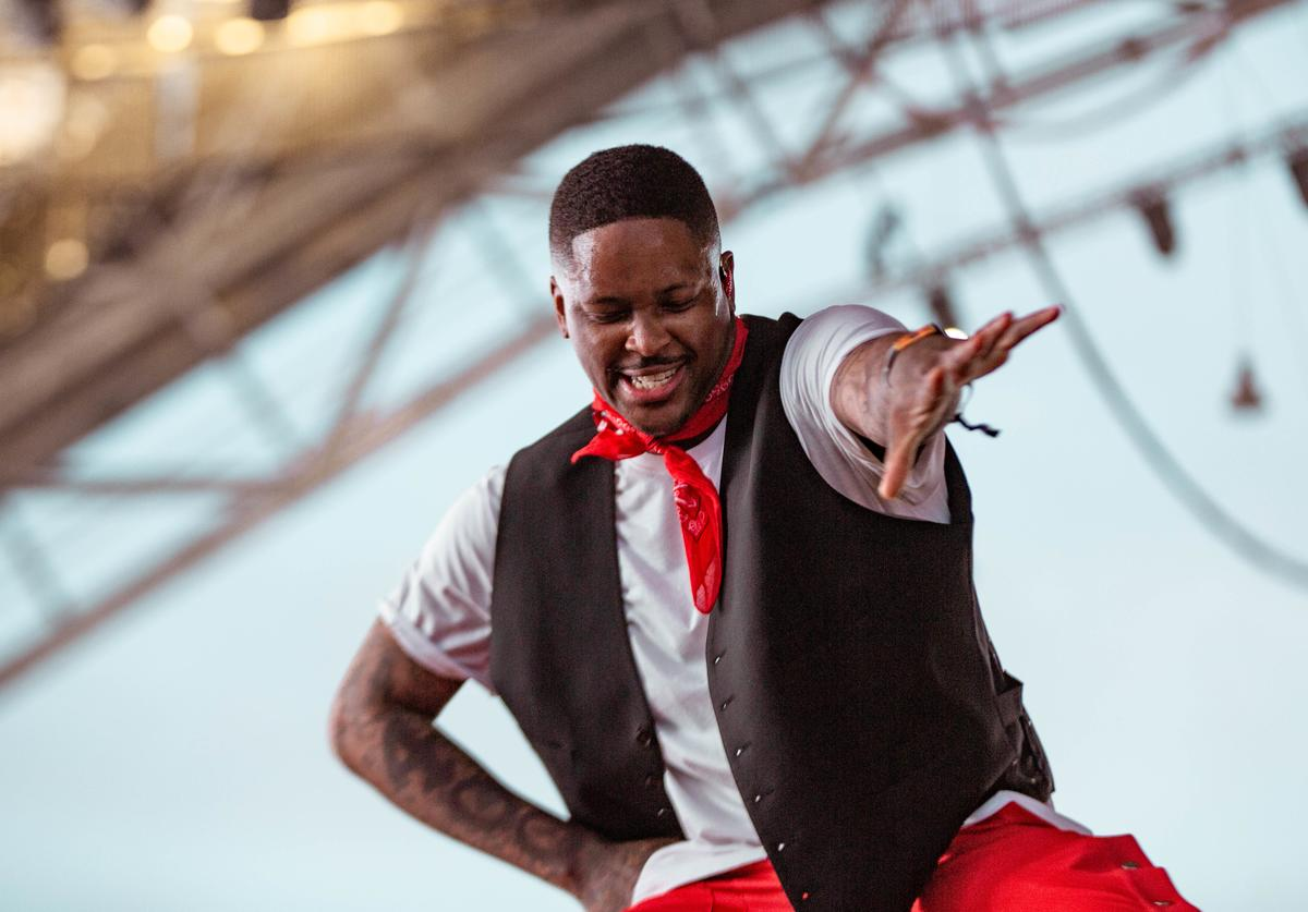 YG performs at Sahara Tent during the 2019 Coachella Valley Music And Arts Festival on April 14, 2019 in Indio, California