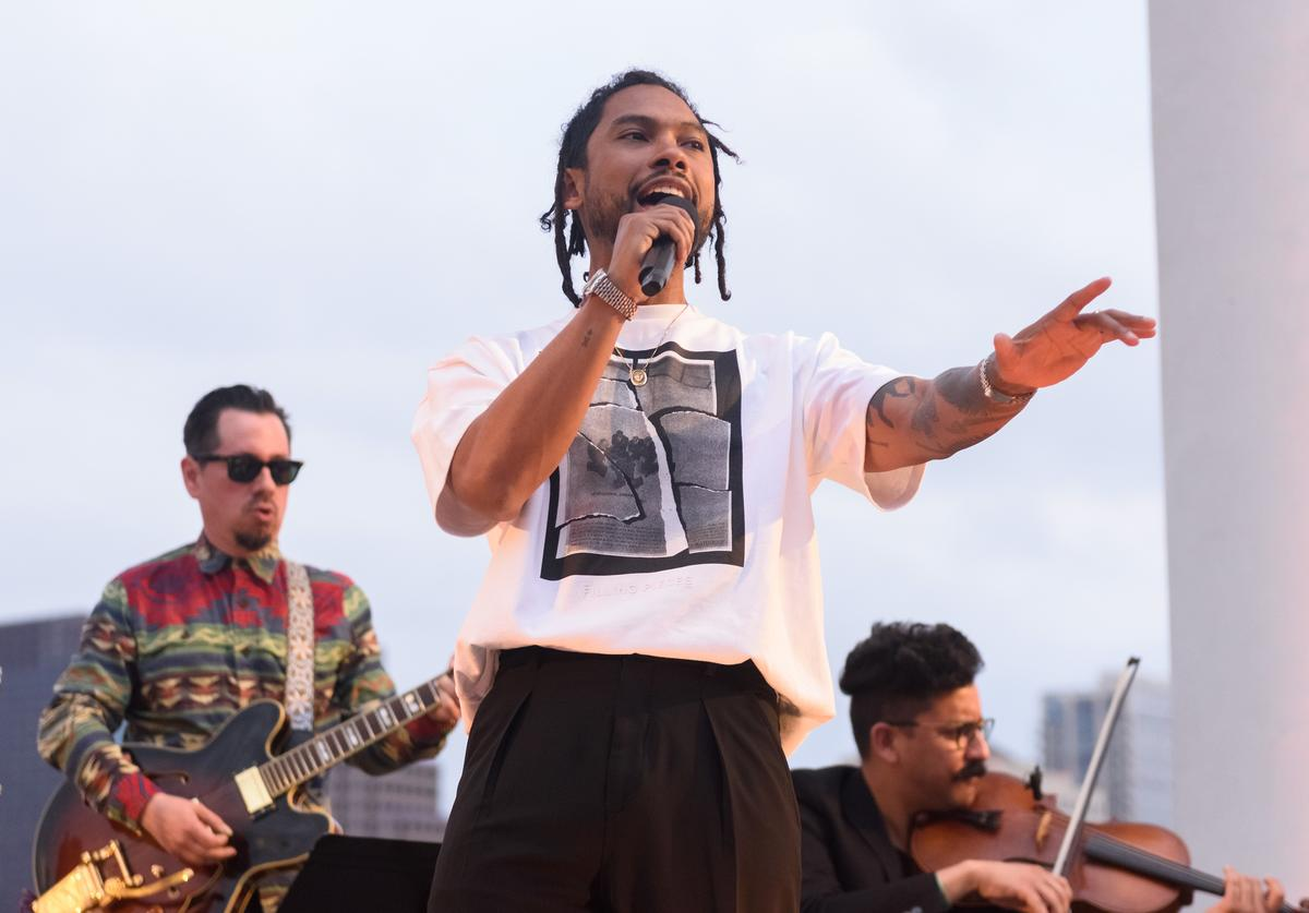 Miguel performs at Pure Golden Hour, an evening of meditation and music hosted by Michelob ULTRA Pure Gold and The Big Quiet, at SXSW on Sunday, March 10, 2019 in Austin, Texas