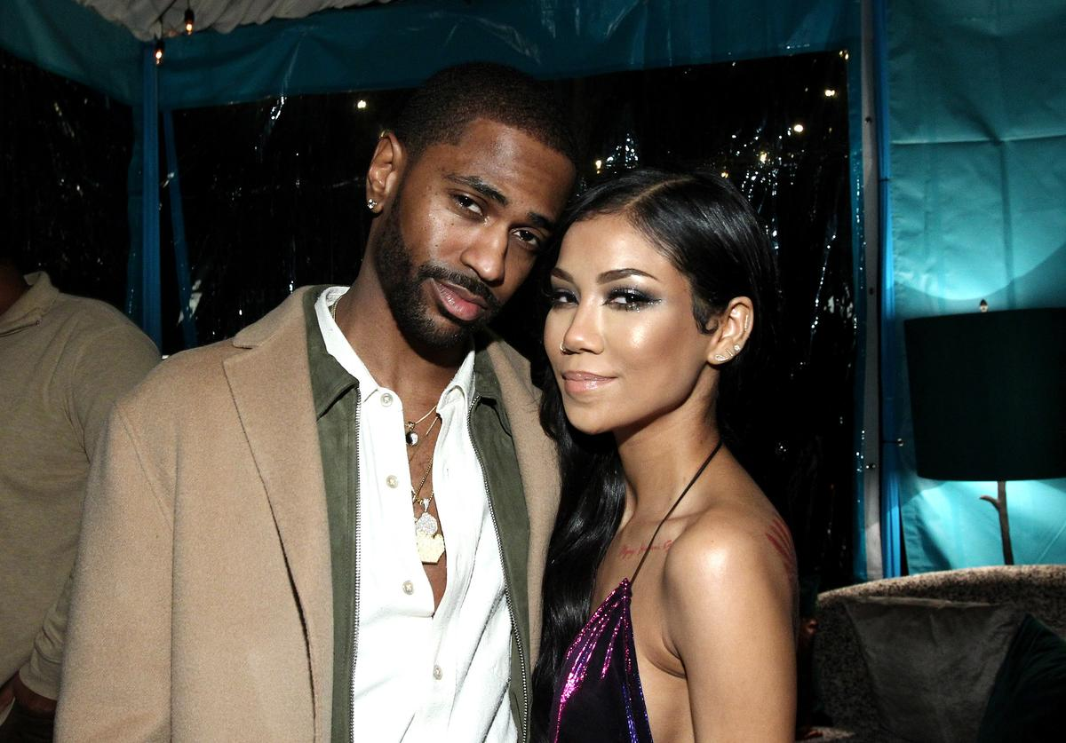 Big Sean and singer Jhene Aiko attend the Def Jam Toasts The Grammys at the Private Residence of Jonas Tahlin, CEO Absolut Elyx on February 12, 2017 in Los Angeles, California