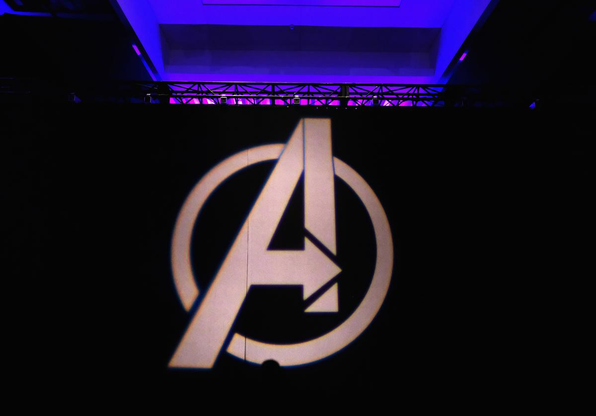 A view of the atmosphere onstage during Marvel Studios' 'Avengers: Endgame' Global Junket Press Conference at the InterContinental Los Angeles Downtown on April 7, 2019 in Los Angeles, California