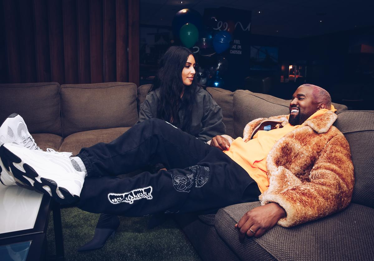 In this handout photo provided by Forum Photos, Kim Kardashian West and Kanye West attend the Travis Scott Astroworld Tour at The Forum on December 19, 2018 in Inglewood, California.