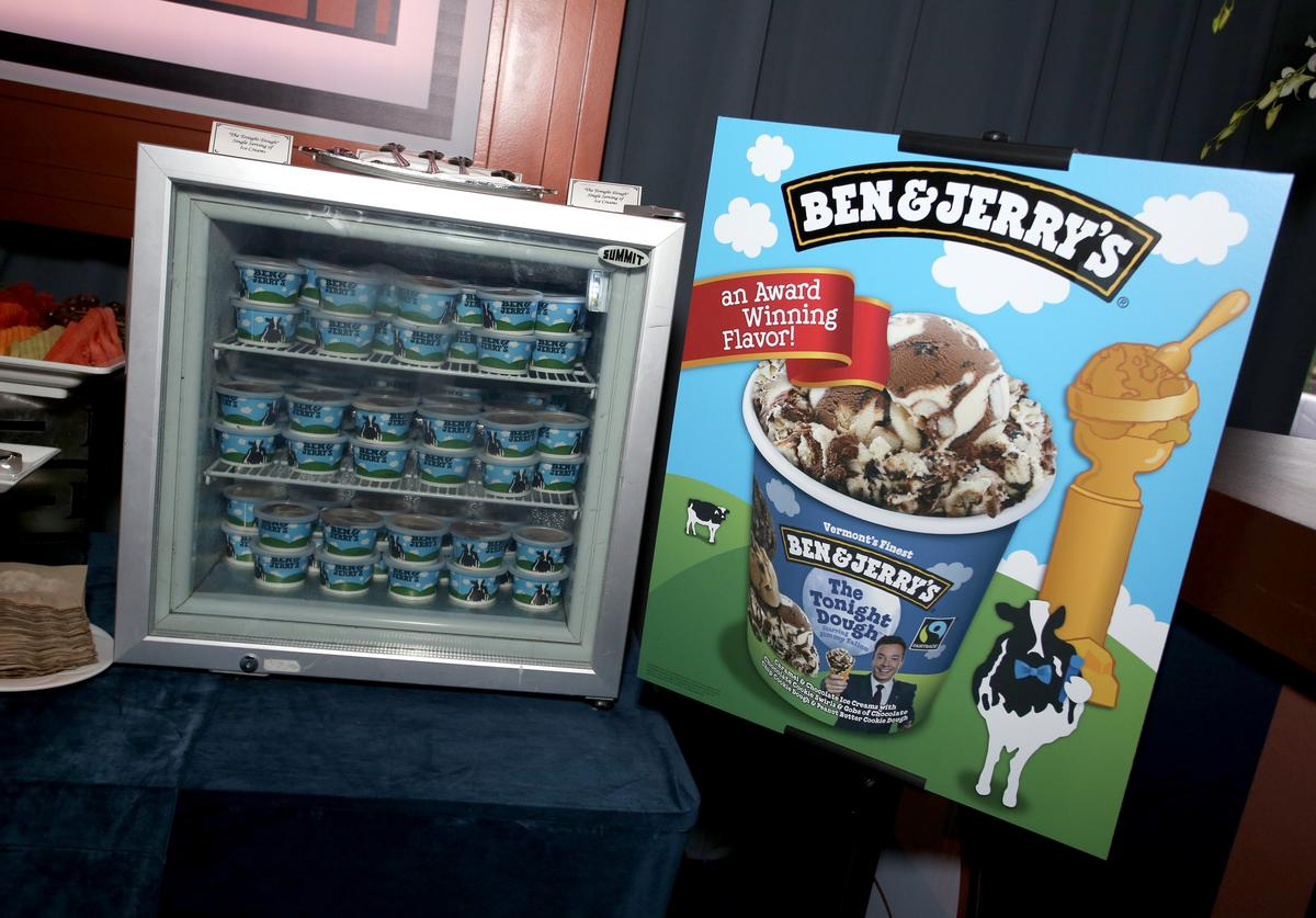 Ben & Jerry's is served during the Universal, NBC, Focus Features, E! Entertainment Golden Globes after party sponsored by Chrysler on January 8, 2017 in Beverly Hills, California.