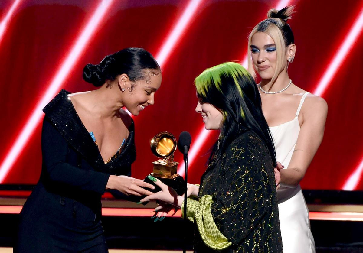 Alicia Keys & Billie Eilish at Grammys