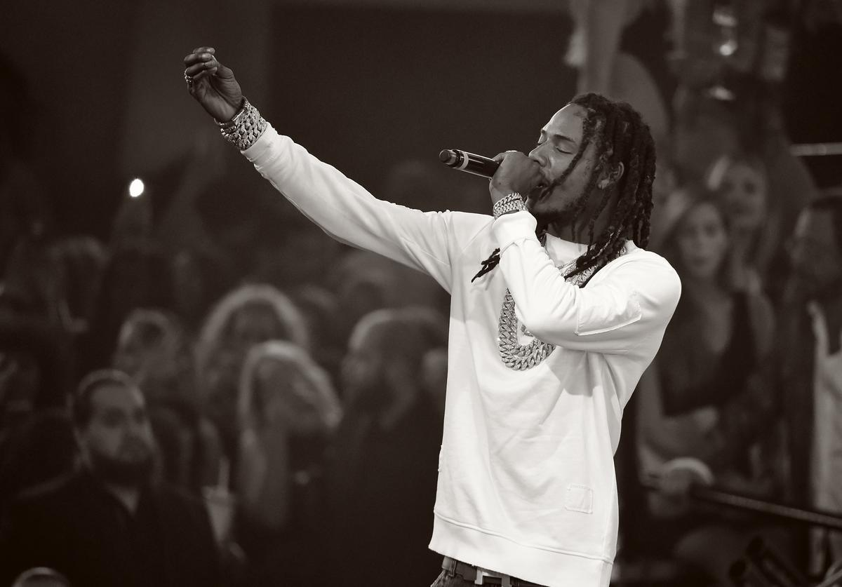 Fetty Wap performing at Drai's nightclub in vegas.