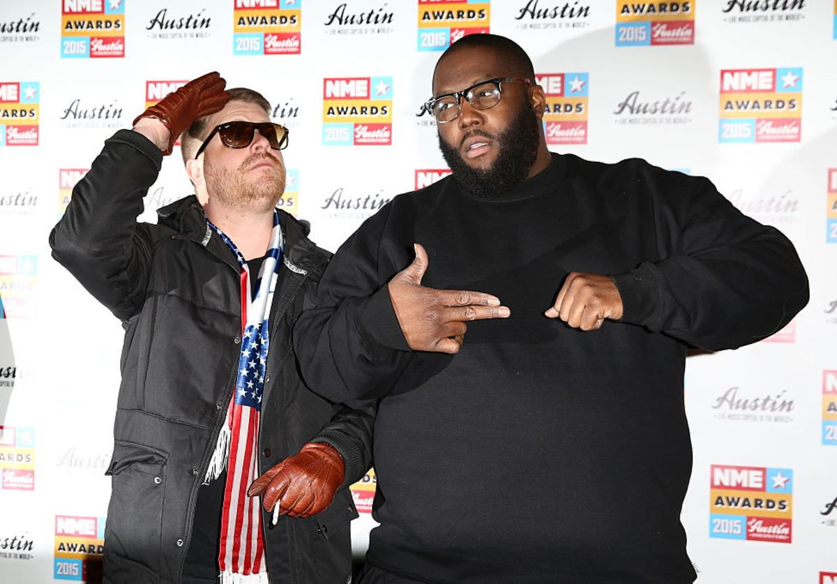 El-P (L) and Killer Mike of Run The Jewels attend the NME Awards at Brixton Academy on February 18, 2015 in London, England.
