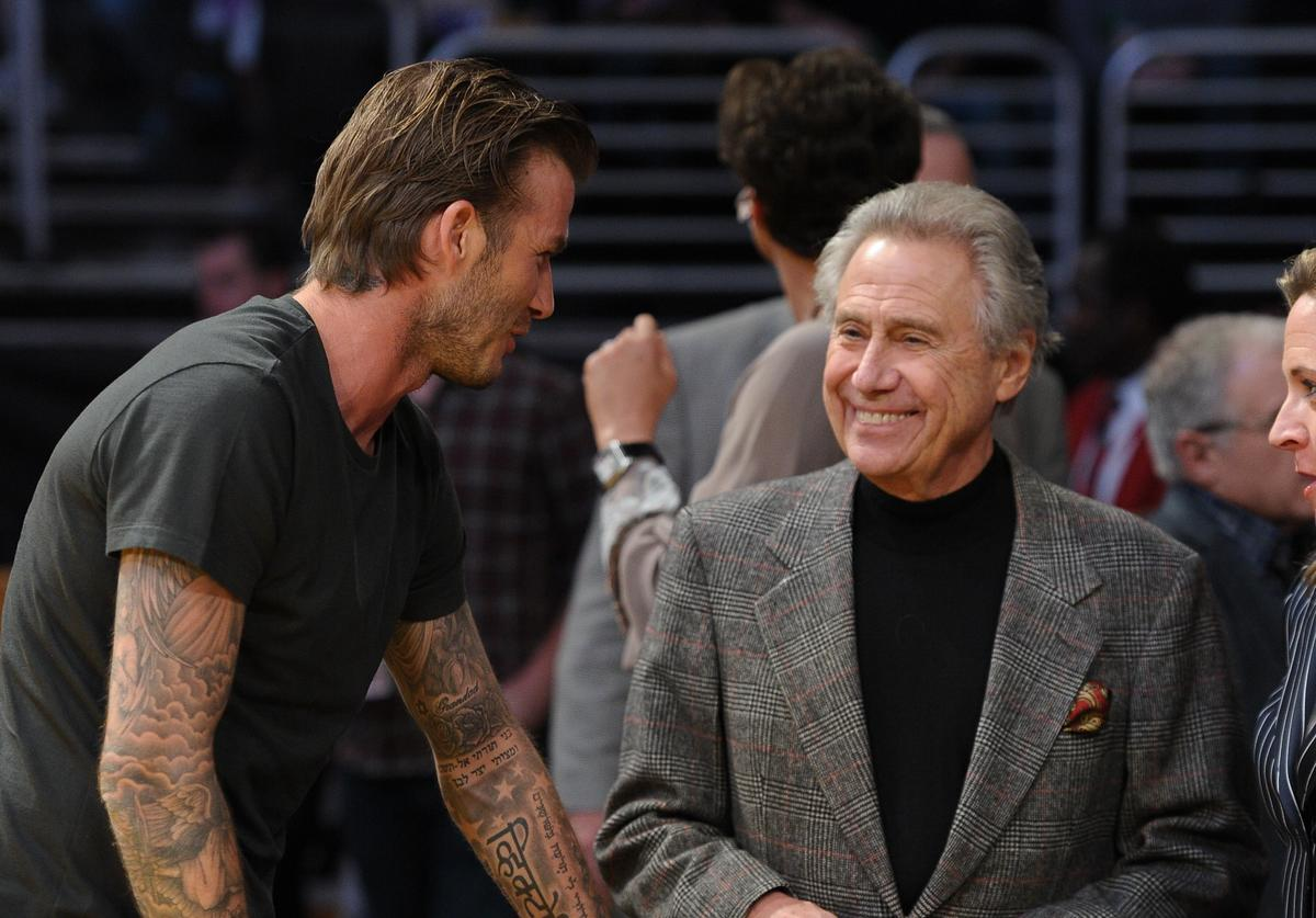 Phil Anschutz at the Lakers game.