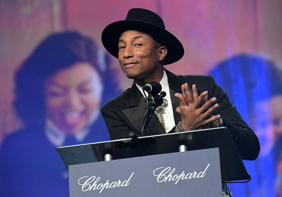 Pharrell Williams speaks onstage at the 28th Annual Palm Springs International Film Festival Film Awards Gala at the Palm Springs Convention Center on January 2, 2017 in Palm Springs, California.