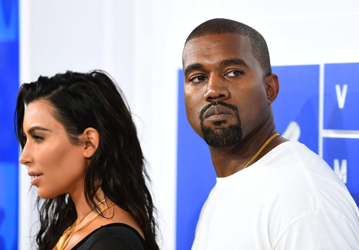 Kim Kardashian and Kanye West attends the 2016 MTV Video Music Awards at Madison Square Garden on August 28, 2016 in New York City.