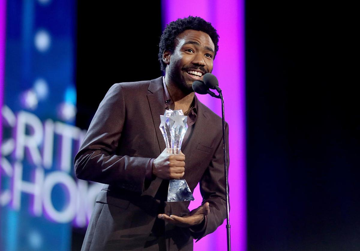 Donald Glover accepts the Best Actor in a Comedy Series award for 'Atlanta' onstage during the The 22nd Annual Critics' Choice Awards at Barker Hangar on December 11, 2016 in Santa Monica, California.