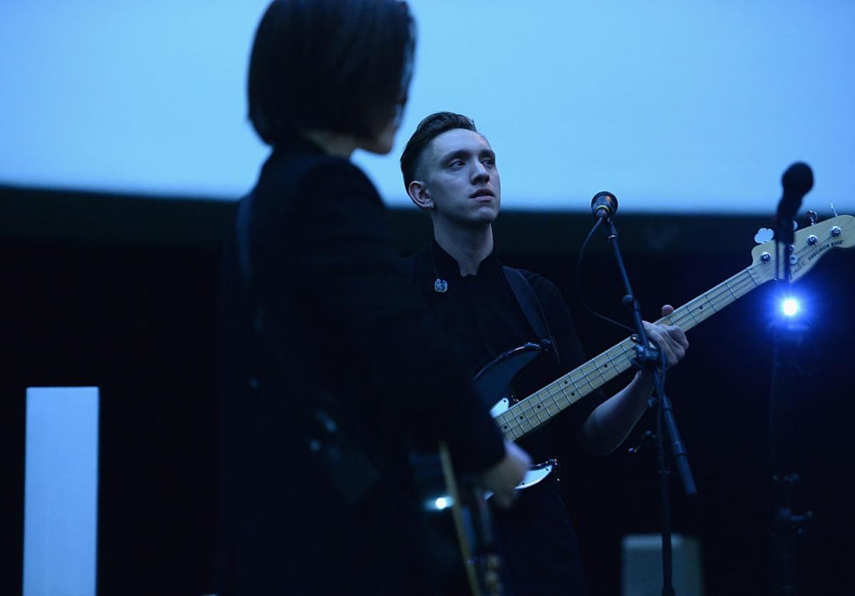 Oliver Sim of The xx performs onstage at the Guggenheim International Gala Pre-Party made possible by Dior on November 5, 2014 in New York City.