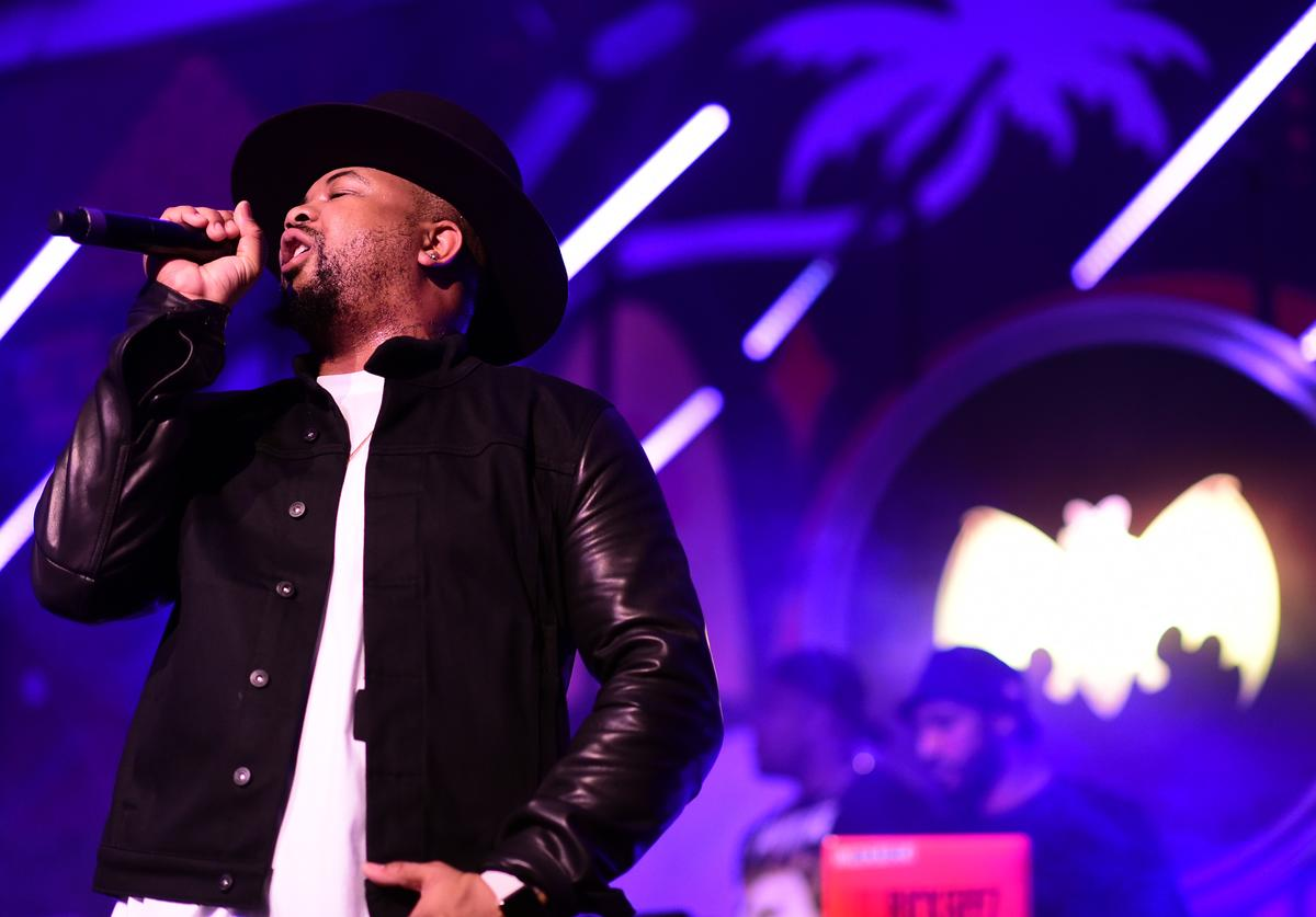 The-Dream performing at The Dean collection x Bicardi event.