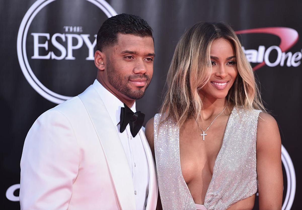 Football player Russell Wilson and recording artist Ciara attend the 2016 ESPYS at Microsoft Theater on July 13, 2016 in Los Angeles, California.