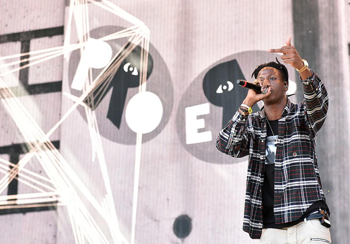 Joey Bada$$ performs onstage during day 1 of the 2016 Coachella Valley Music & Arts Festival Weekend 2 at the Empire Polo Club on April 22, 2016 in Indio, California.