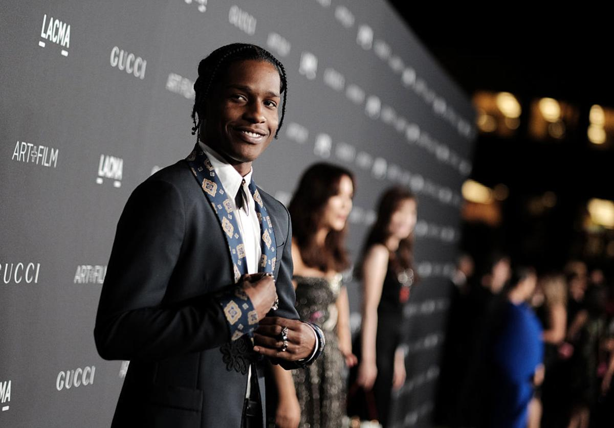 ASAP Rocky, wearing Gucci, attends the 2016 LACMA Art + Film Gala honoring Robert Irwin and Kathryn Bigelow presented by Gucci at LACMA on October 29, 2016 in Los Angeles, California.