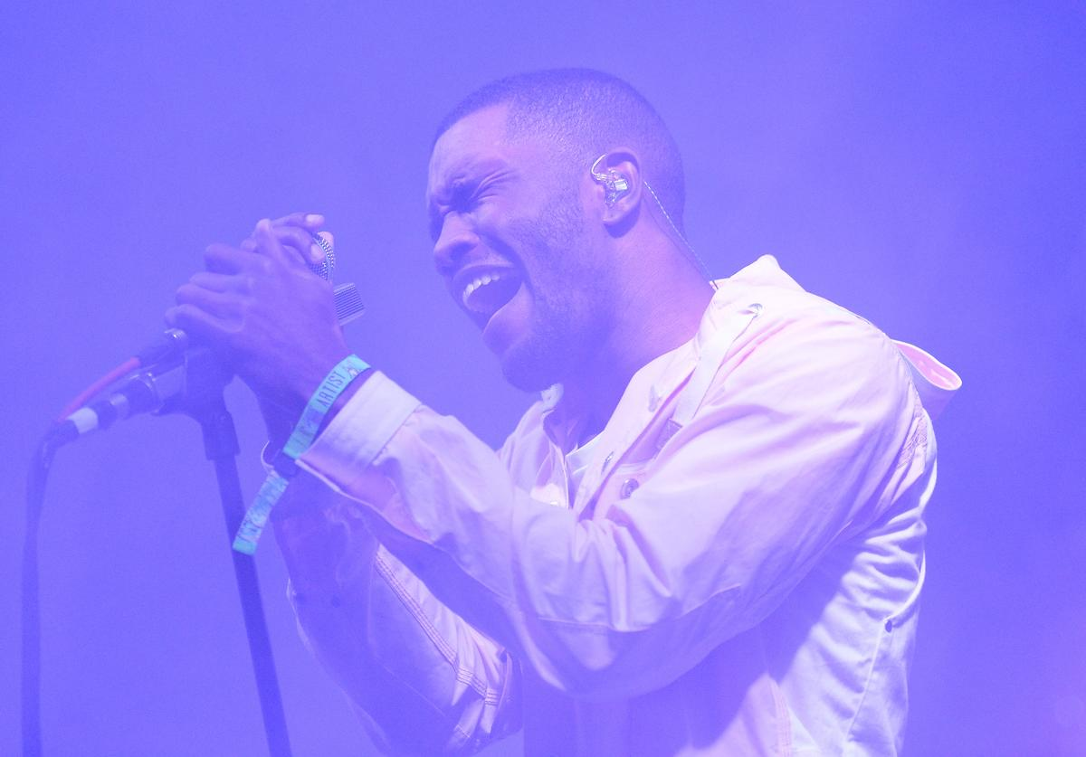 Frank Ocean performing at 2014 Bonaroo music festival.