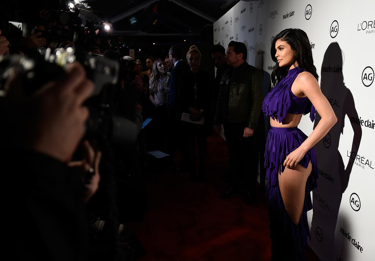 Kylie Jenner at Marie Claire Image Maker Awards 2016.