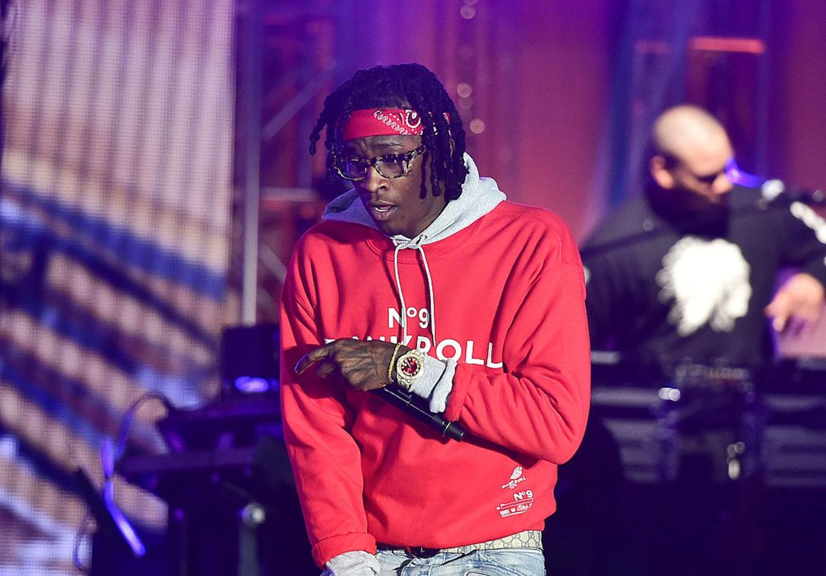 Young Thug performs at Greenbriar Mall on February 22, 2016 in Atlanta, Georgia.
