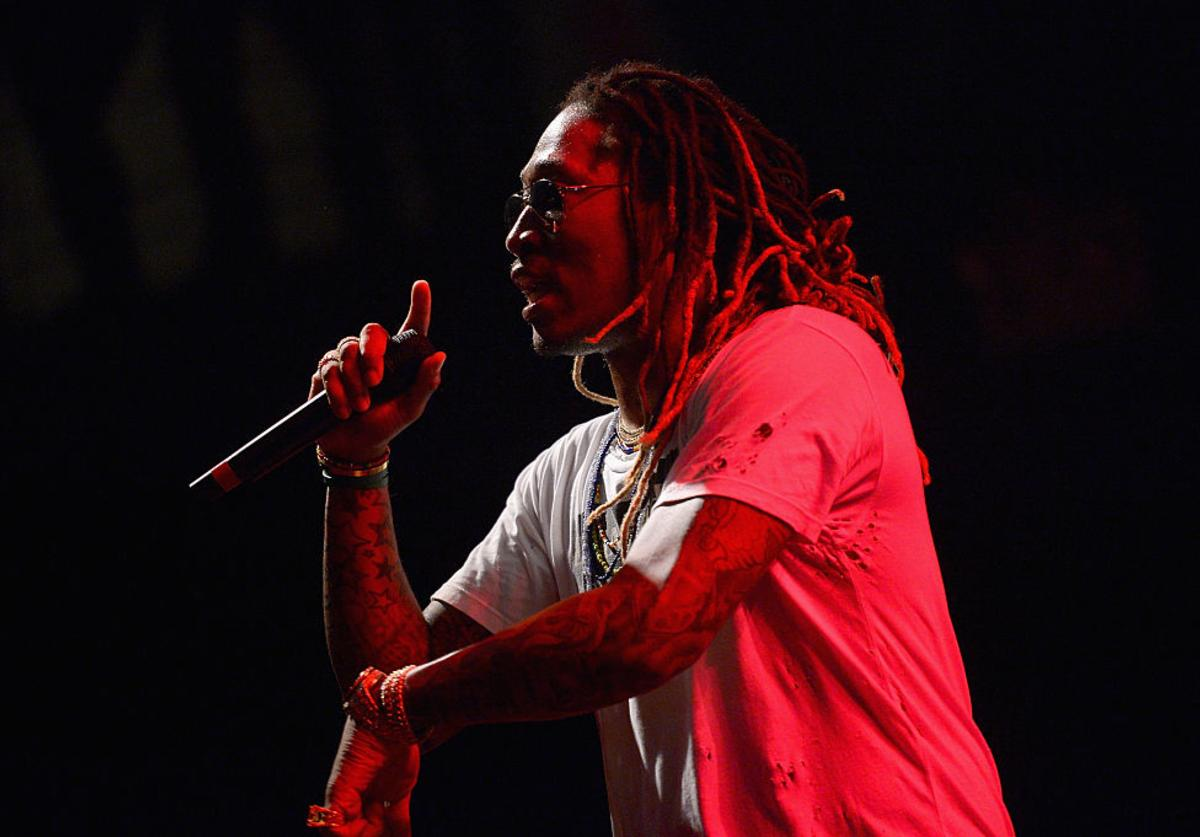 Future appears onstage during the AWXII kick-off concert on September 28, 2015 in New York City.