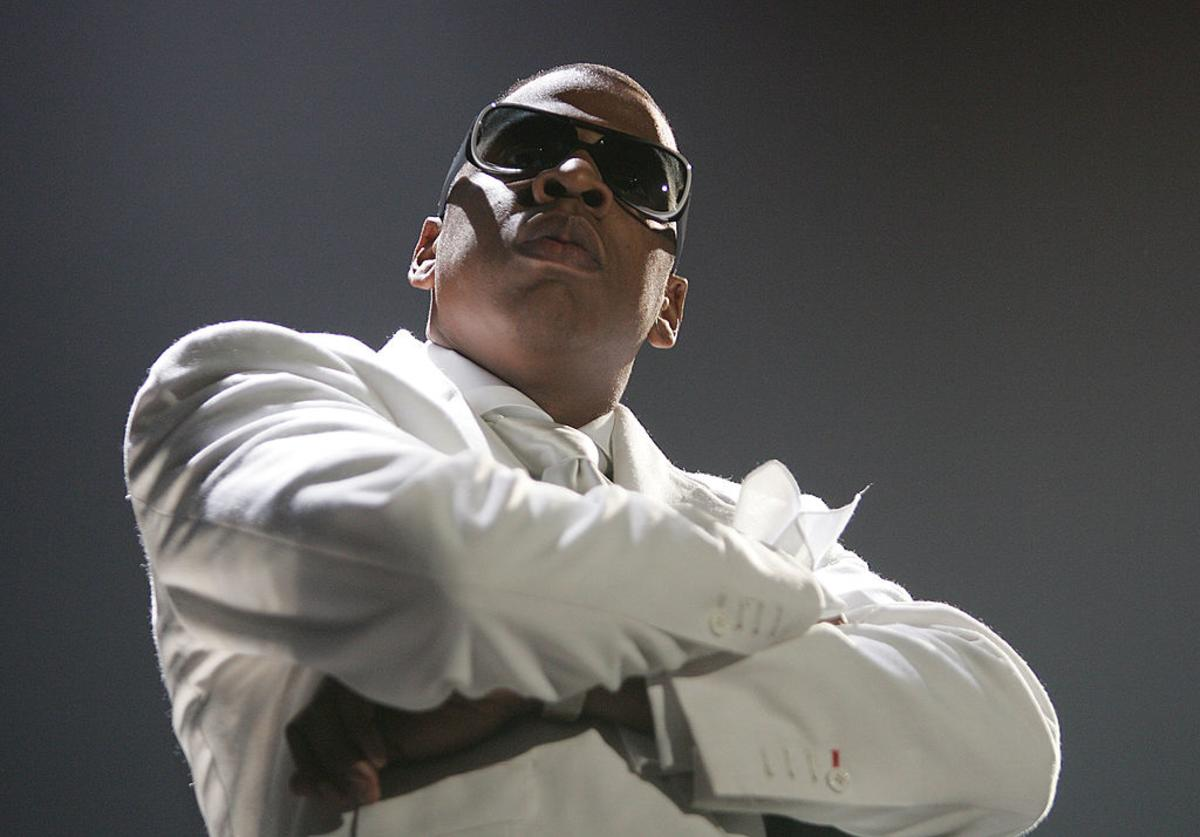 Jay-Z performs during the 'Best of Both Worlds' tour with R. Kelly, September 30, 2004 at the Allstate Arena in Rosemont, Ill.