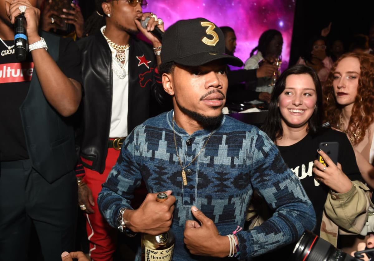 Chance The Rapper attends GQ and Chance The Rapper Celebrate the Grammys in Partnership with YouTube at Chateau Marmont on February 12, 2017 in Los Angeles, California.