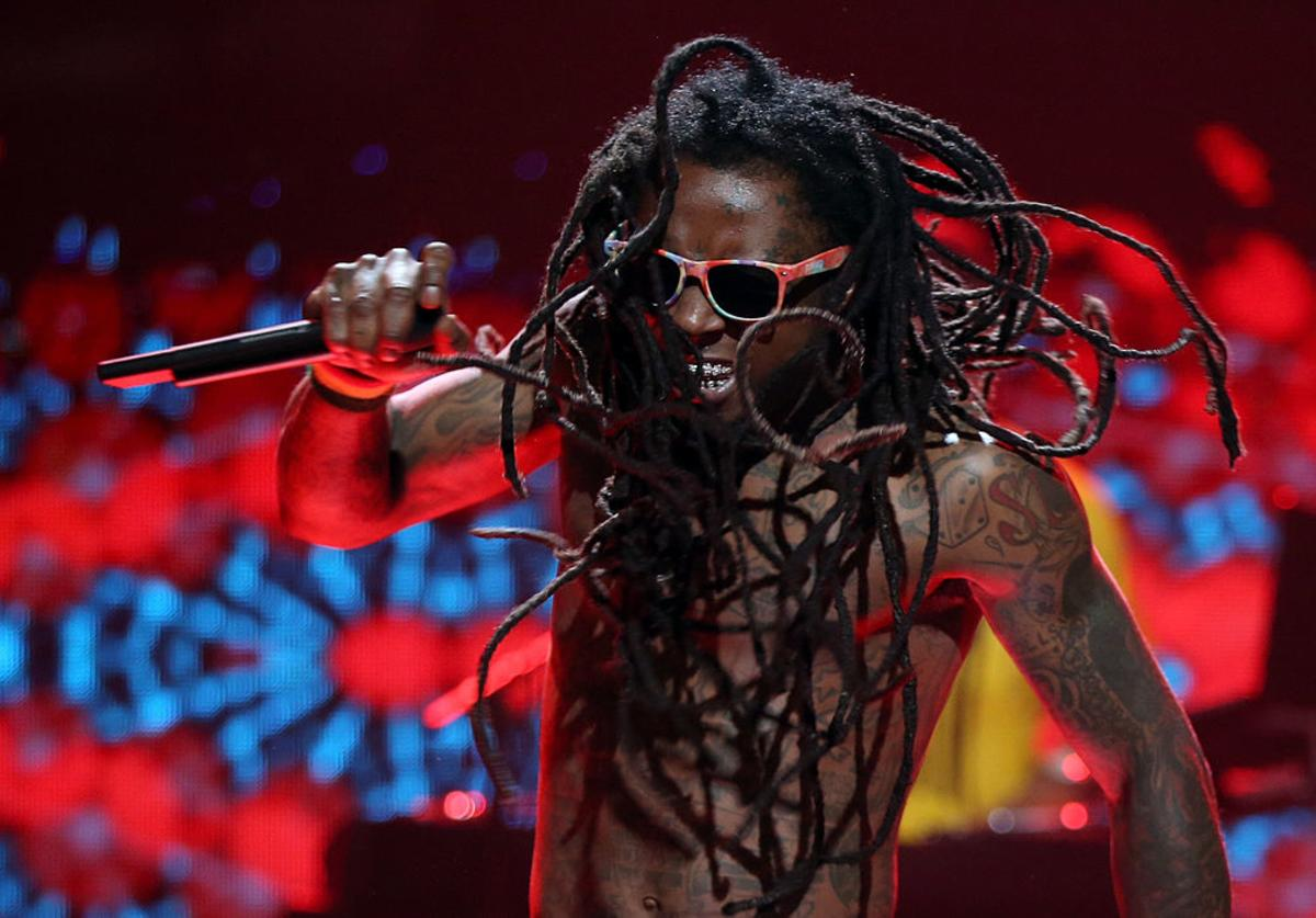 Lil' Wayne performs onstage during the 2012 iHeartRadio Music Festival at the MGM Grand Garden Arena on September 21, 2012 in Las Vegas, Nevada.